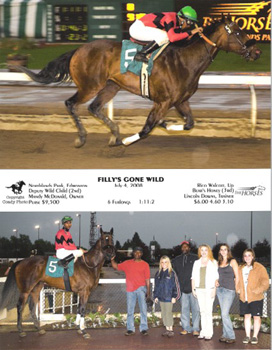 Winning Picture of Filly Gone Wild